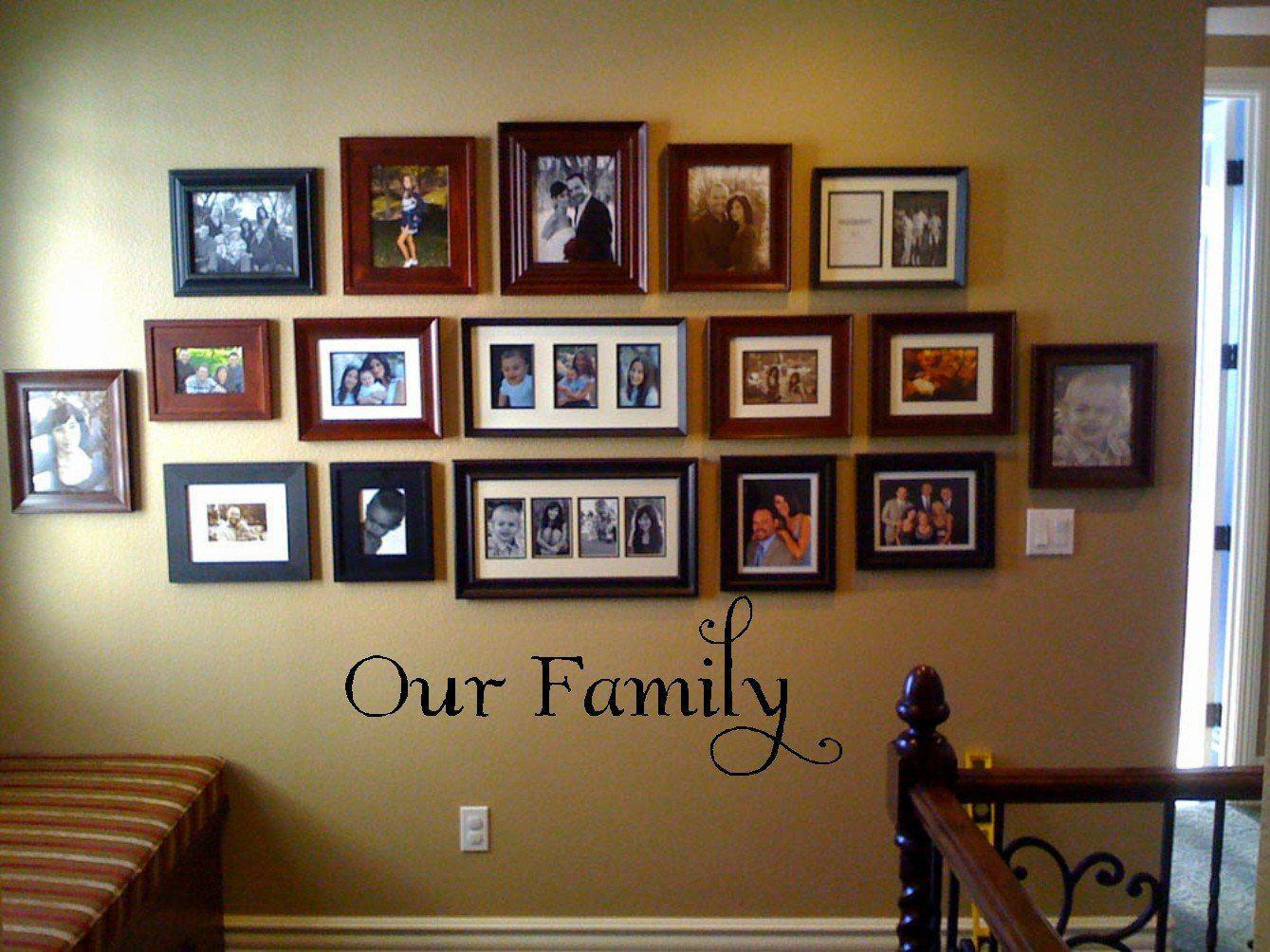 Image of: Decorating Shelves With Family Photos