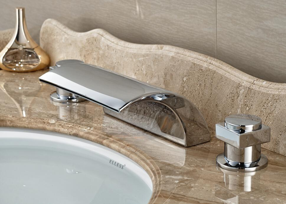 Image of: Delta Chrome Bathroom Faucets