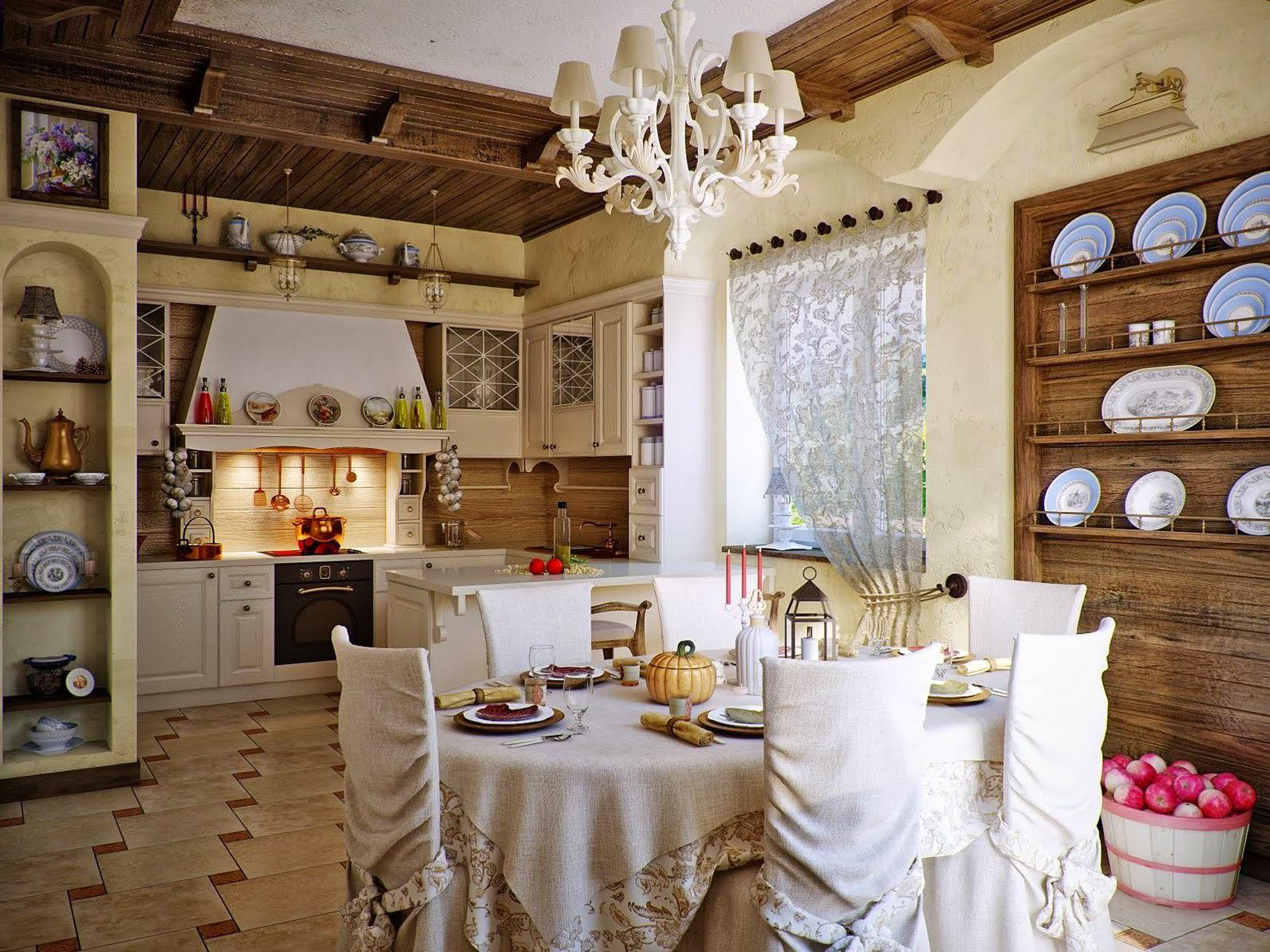 Image of: Dining Room Country home interiors