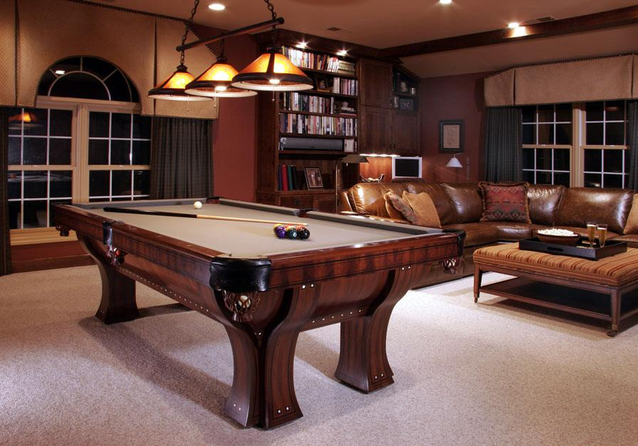 Image of: Elegant Billiard Room Decorating Ideas