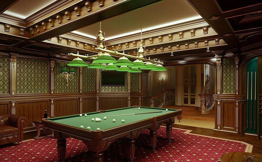 Image of: Elegant Billiard Rooms Style