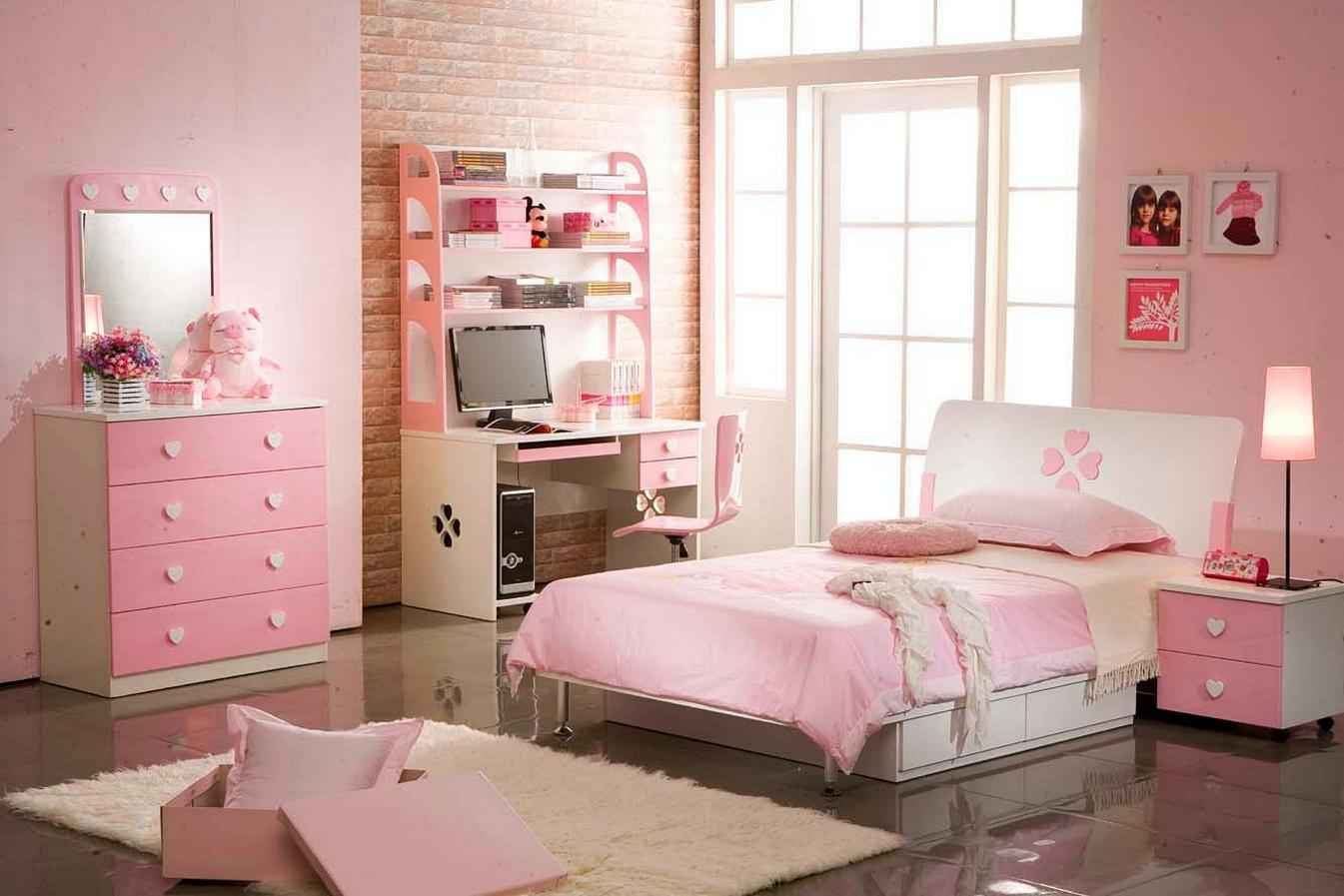 Image of: Elegant Pink Girls Room