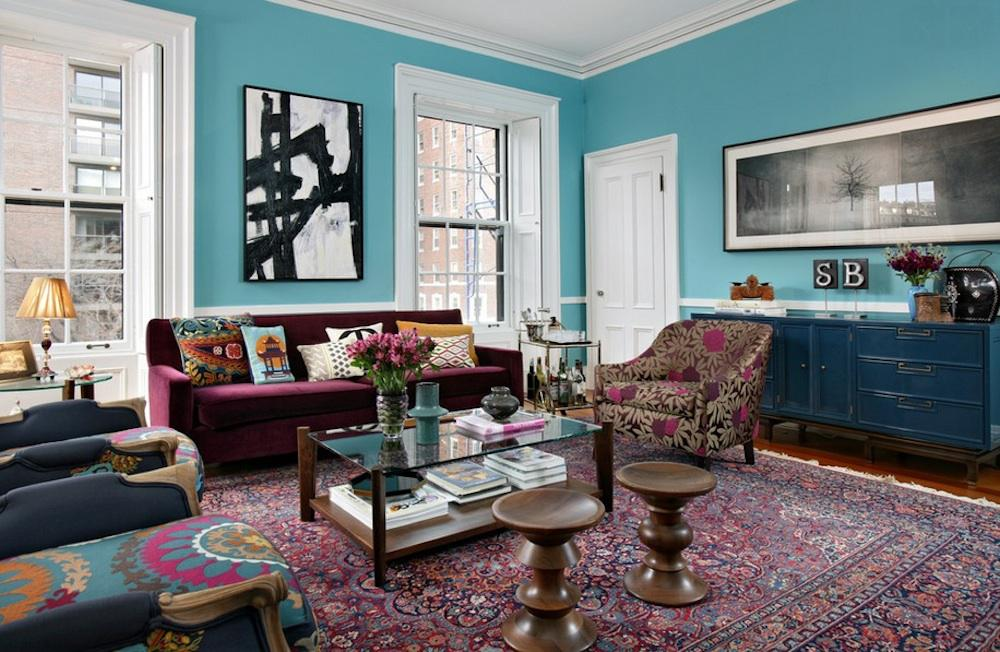 Image of: Elegant Turquoise Interior Design Ideas