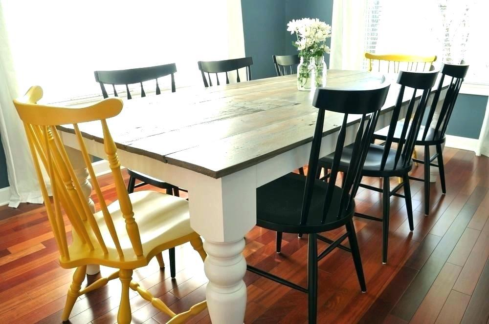 Image of: Farmhouse Dining Room Table Designs