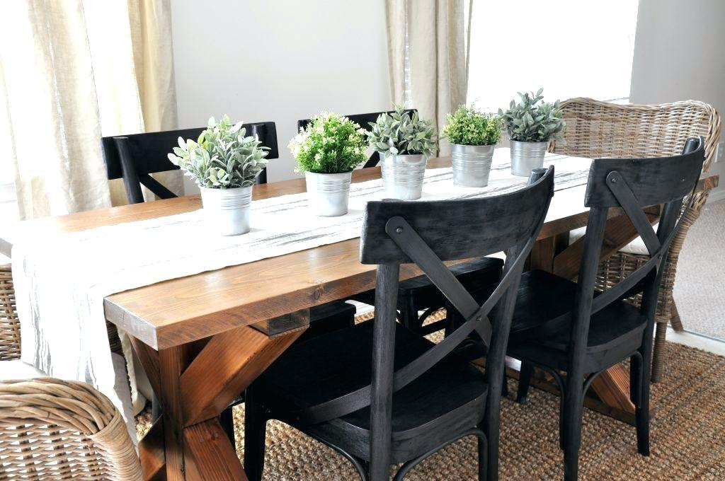 Image of: Farmhouse Dining Room Table Pictures