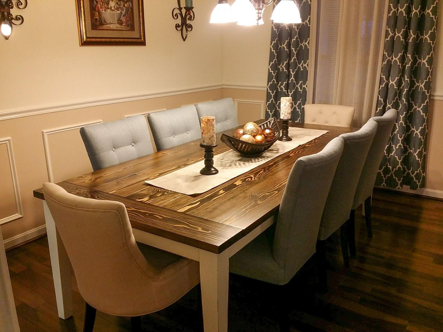 Image of: Farmhouse Dining Room Tables And Chairs