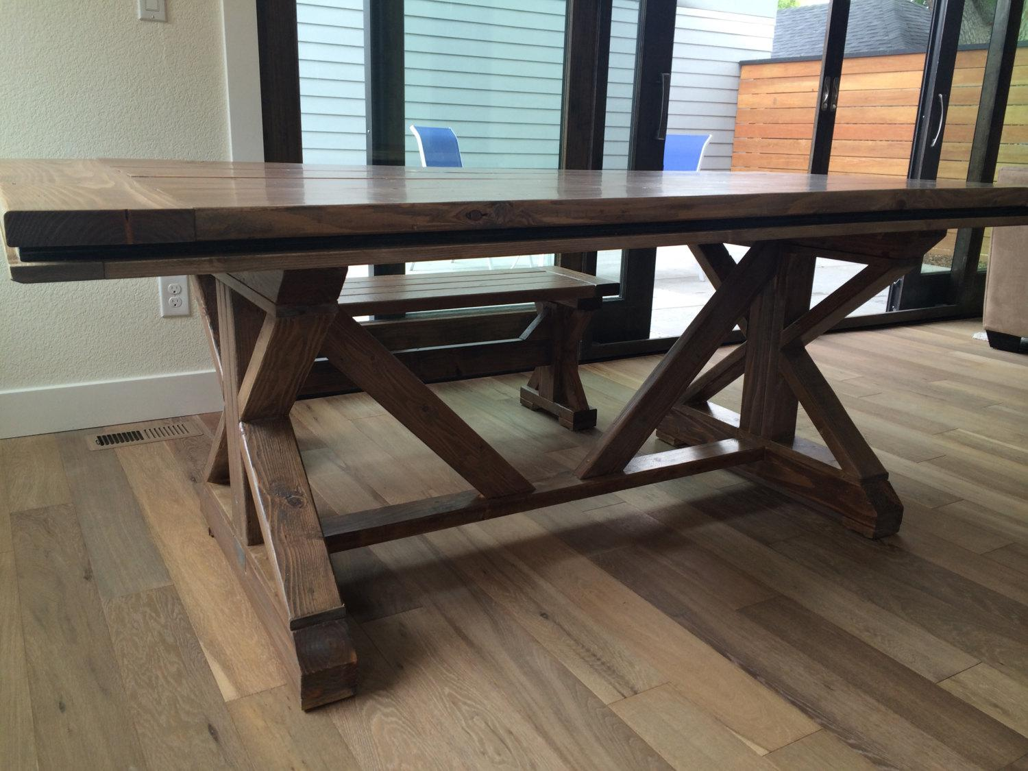 Image of: French Farmhouse Table Diy
