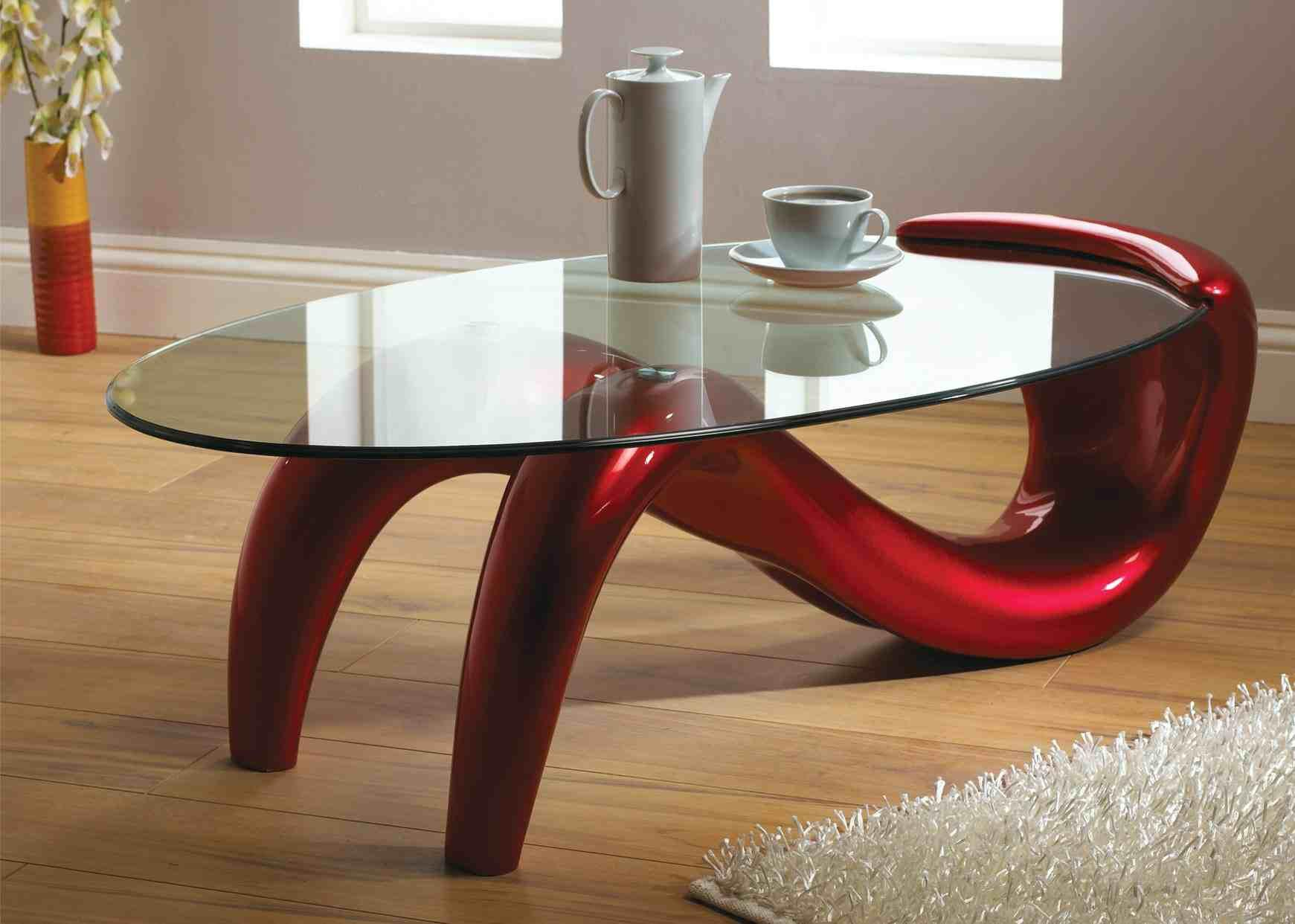 Image of: Glass Coffee Table Antique