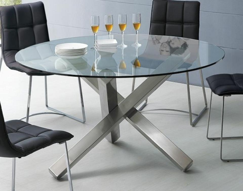 Image of: Glass Table Top Round