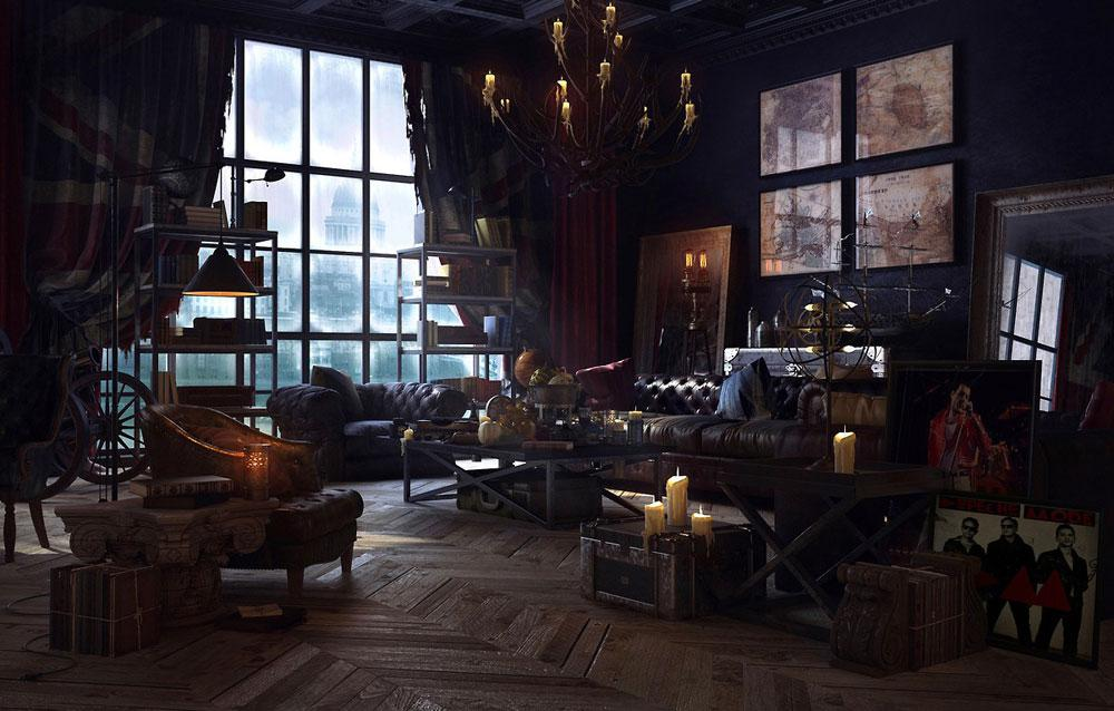 Image of: Gothic Apartment Decorating Ideas