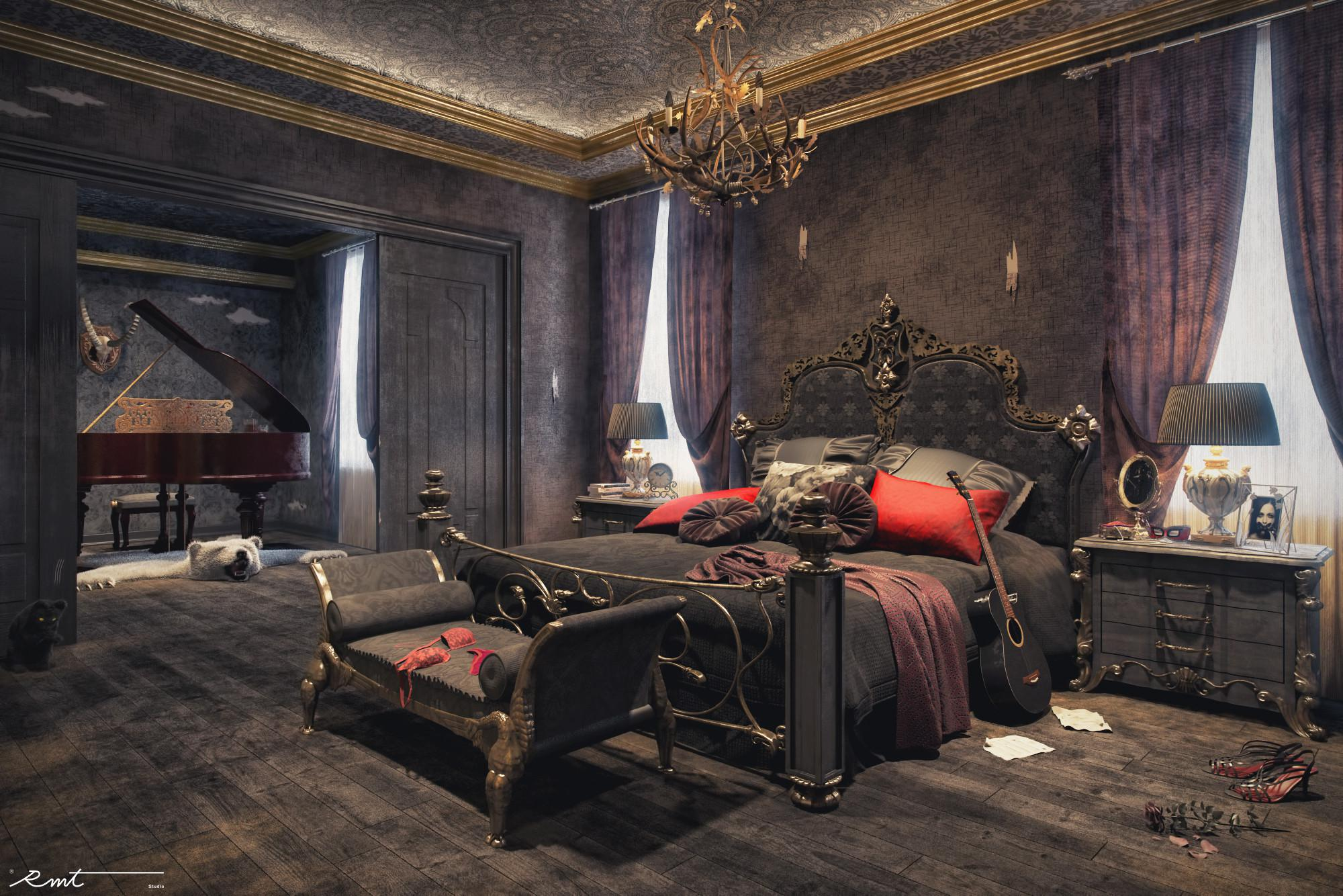 Image of: Gothic Apartment Decorations