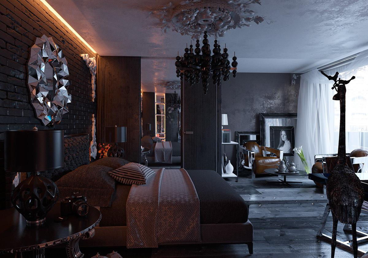 Image of: Gothic Bedroom Decorating