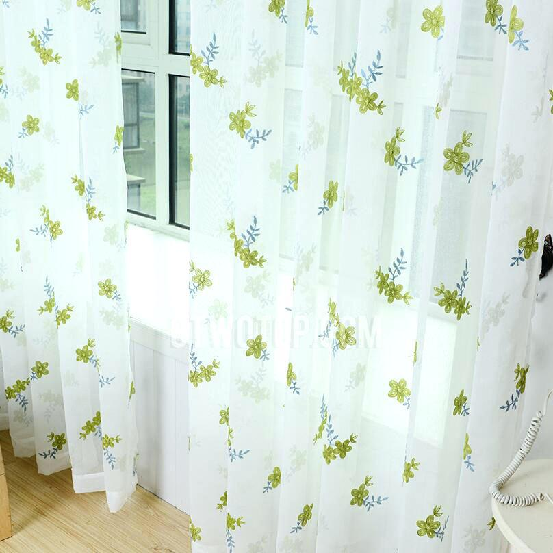 Image of: Green And White Chevron Curtains