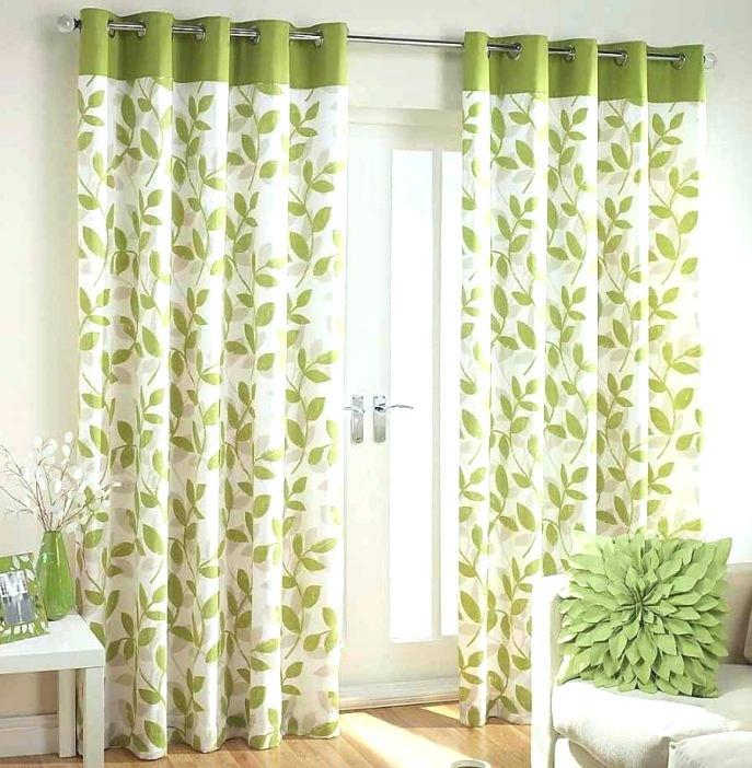 Image of: Green And White Curtains Ikea