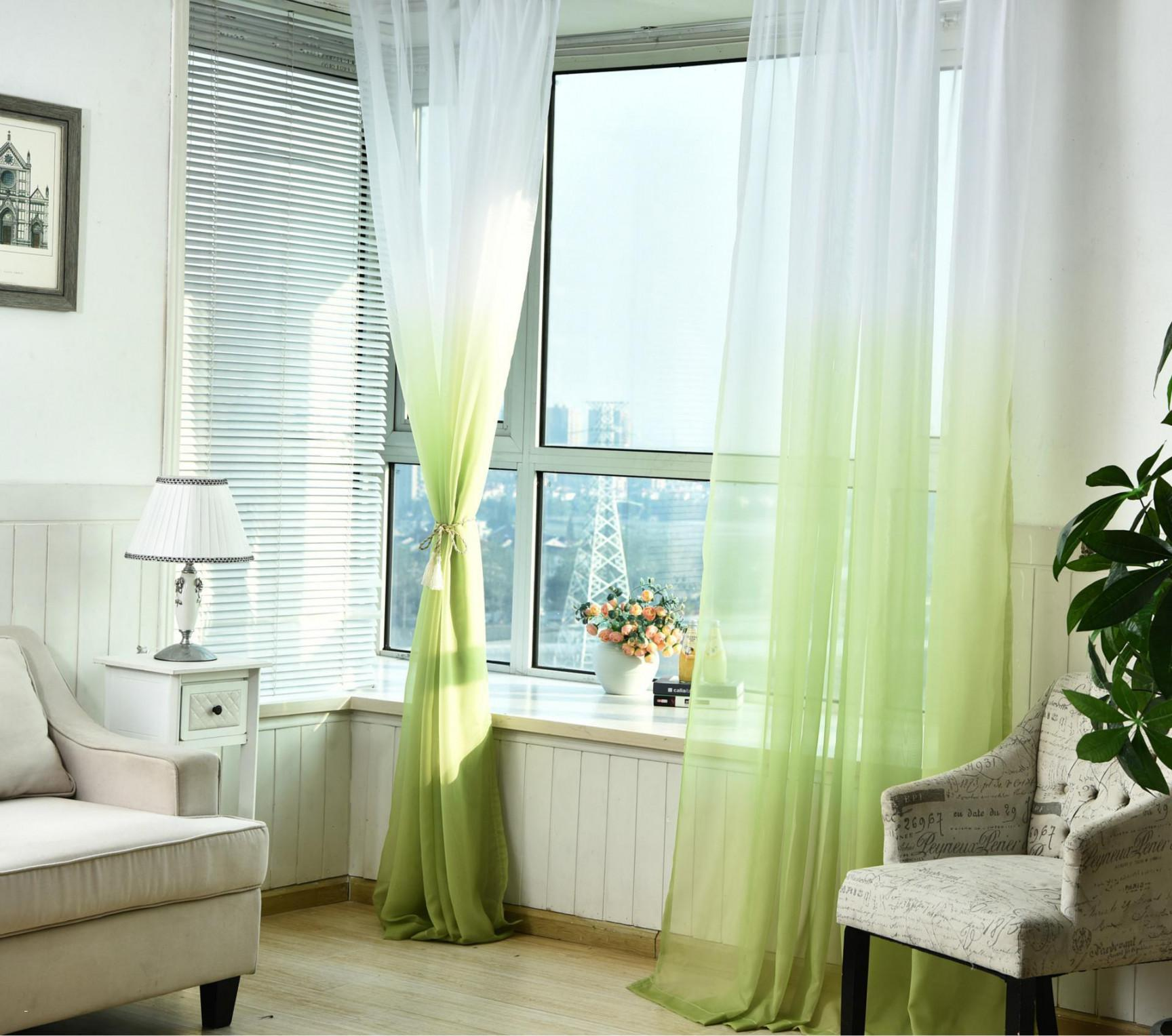 Image of: Green And White Curtains Uk