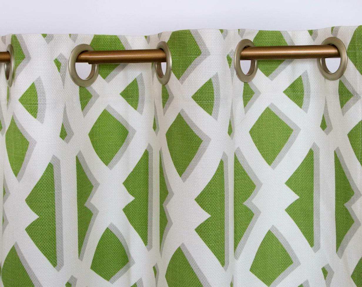 Image of: Green And White Shower Curtains