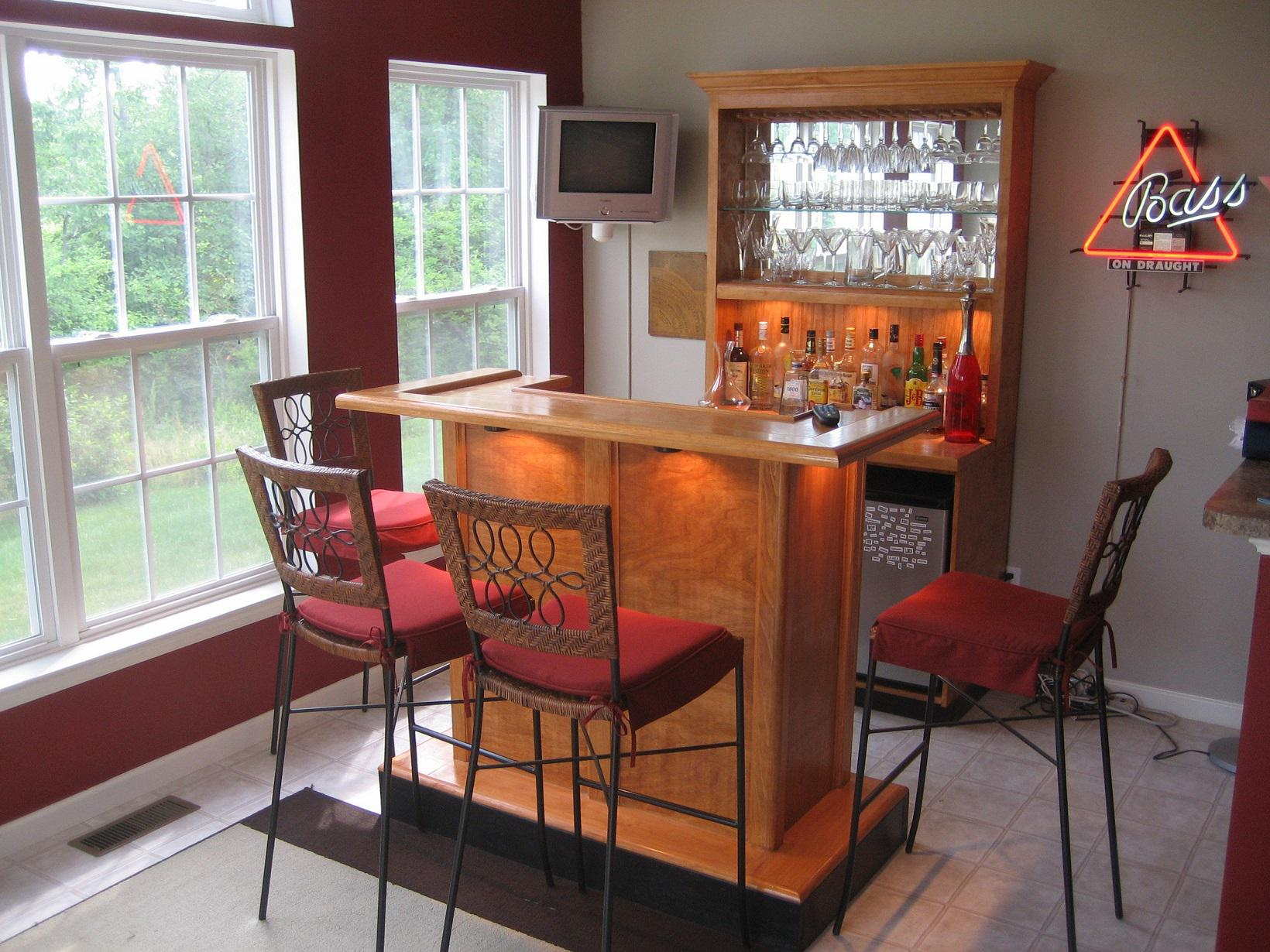 Image of: Home Bar Plans