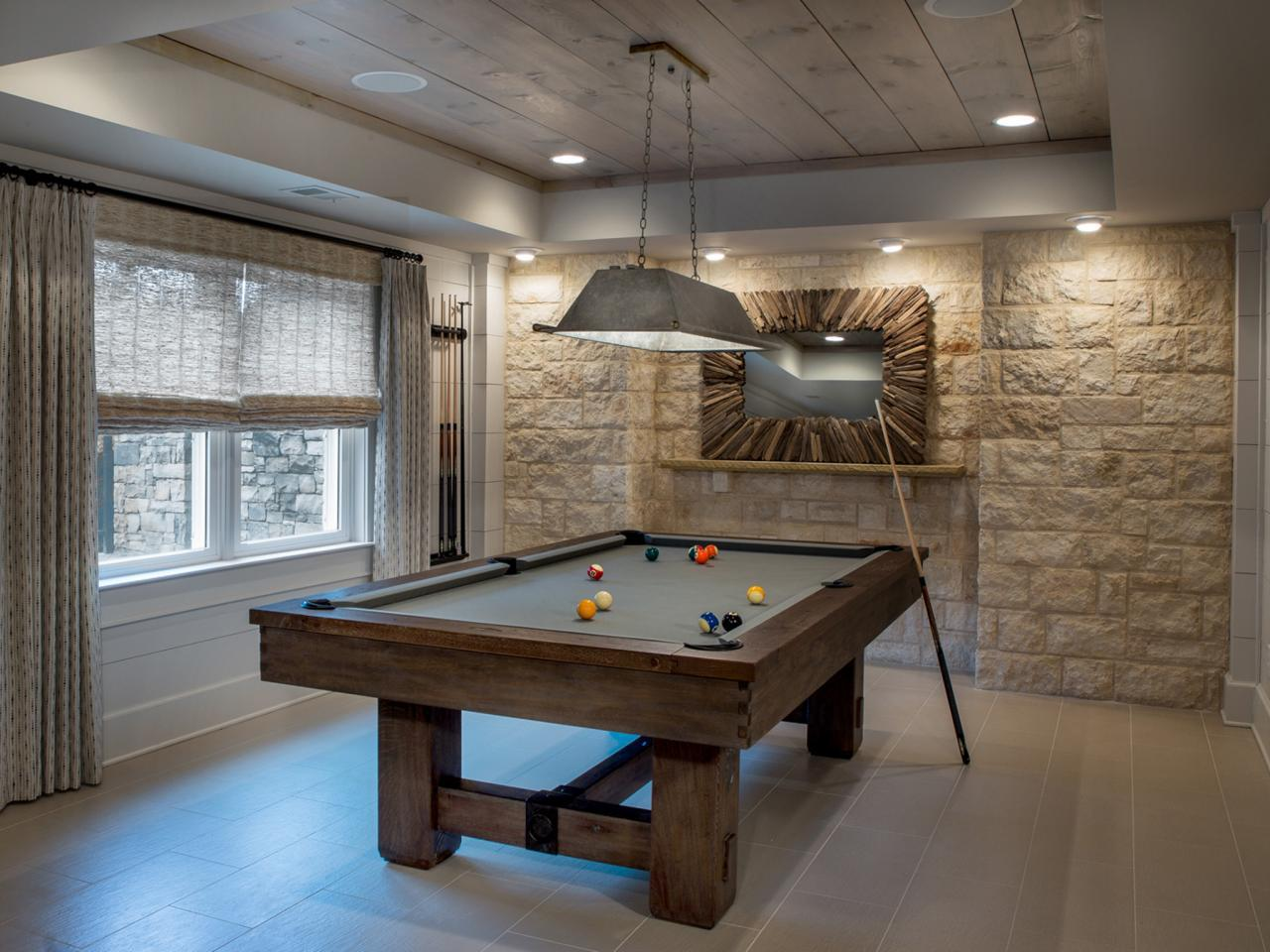 Image of: Home Billiard Room Decorating Ideas