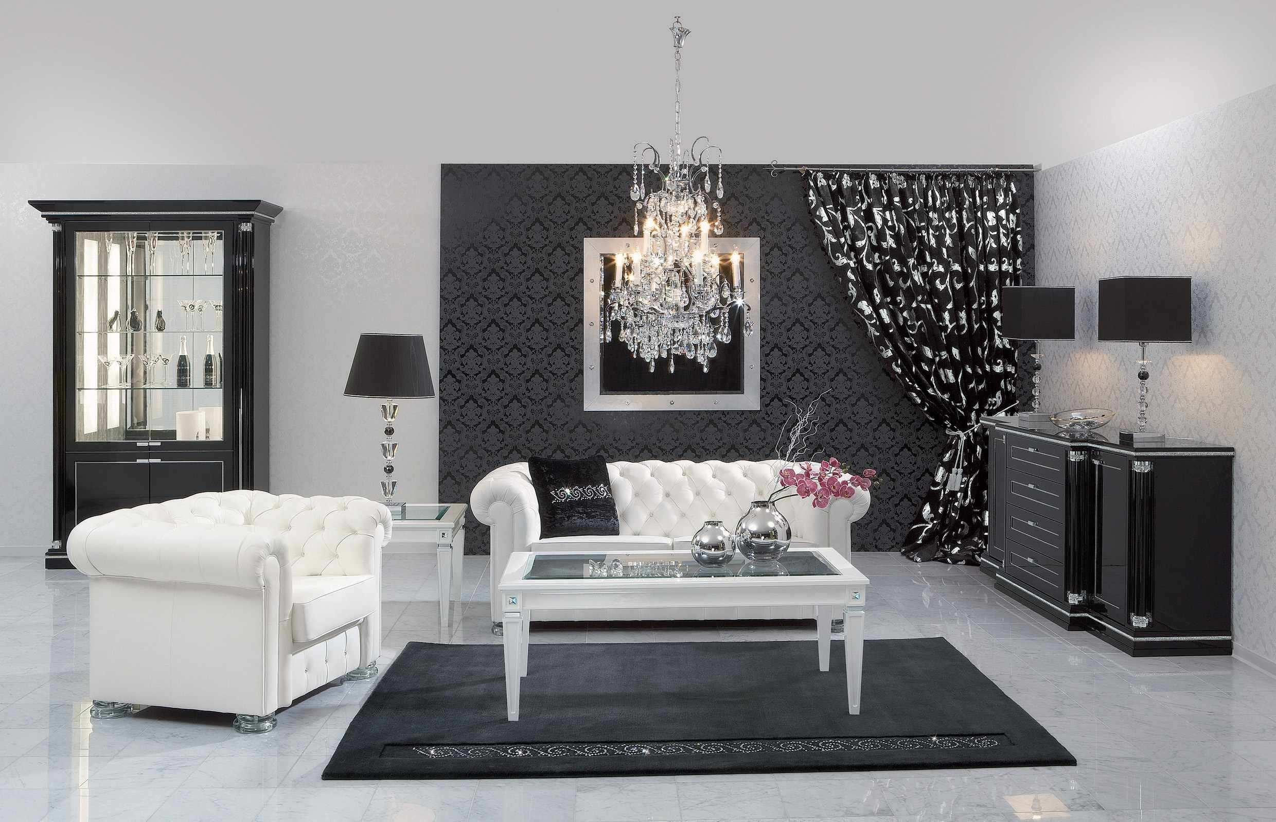 Image of: Home Decor Black And White Style