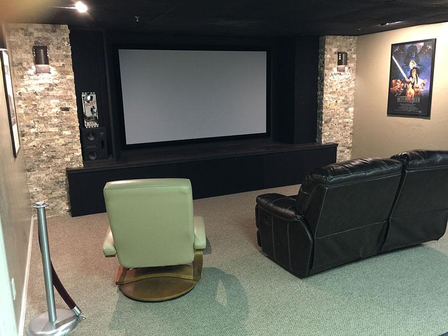 Image of: Home Theater Furniture Small Room