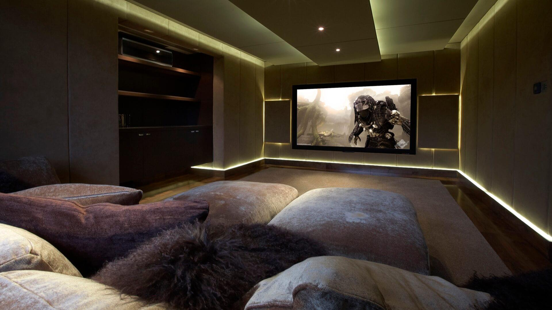 Image of: Home Theater Room Images
