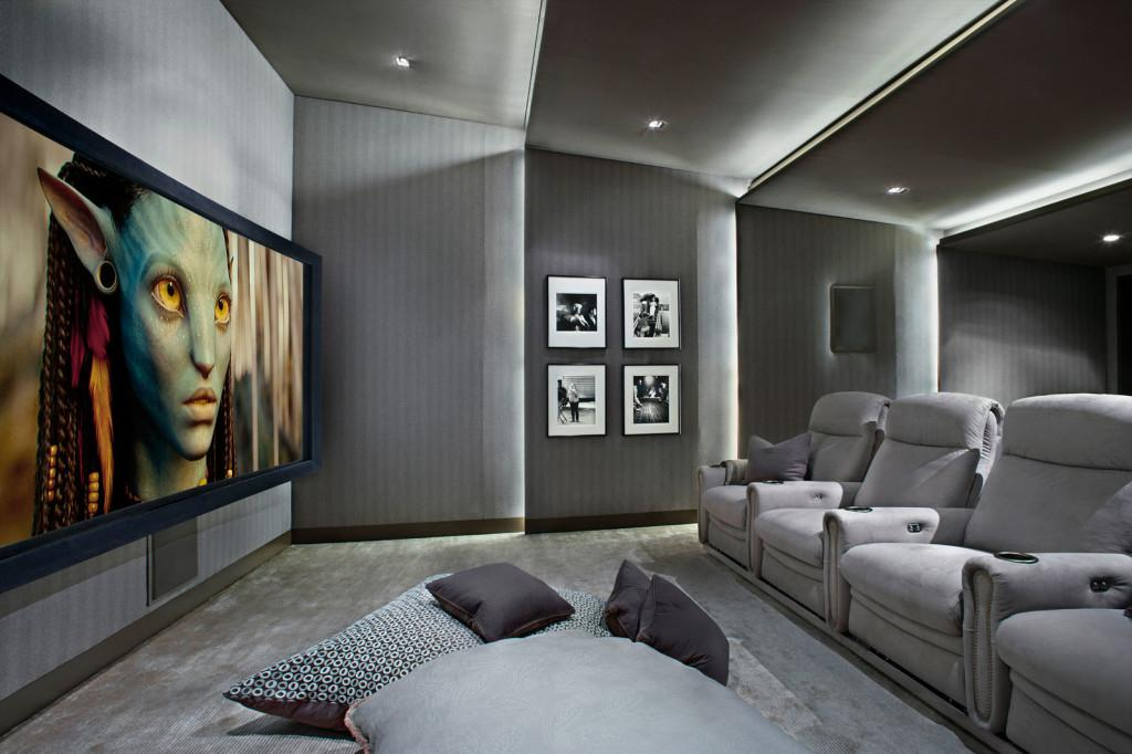 Image of: Home Theater Room Layout
