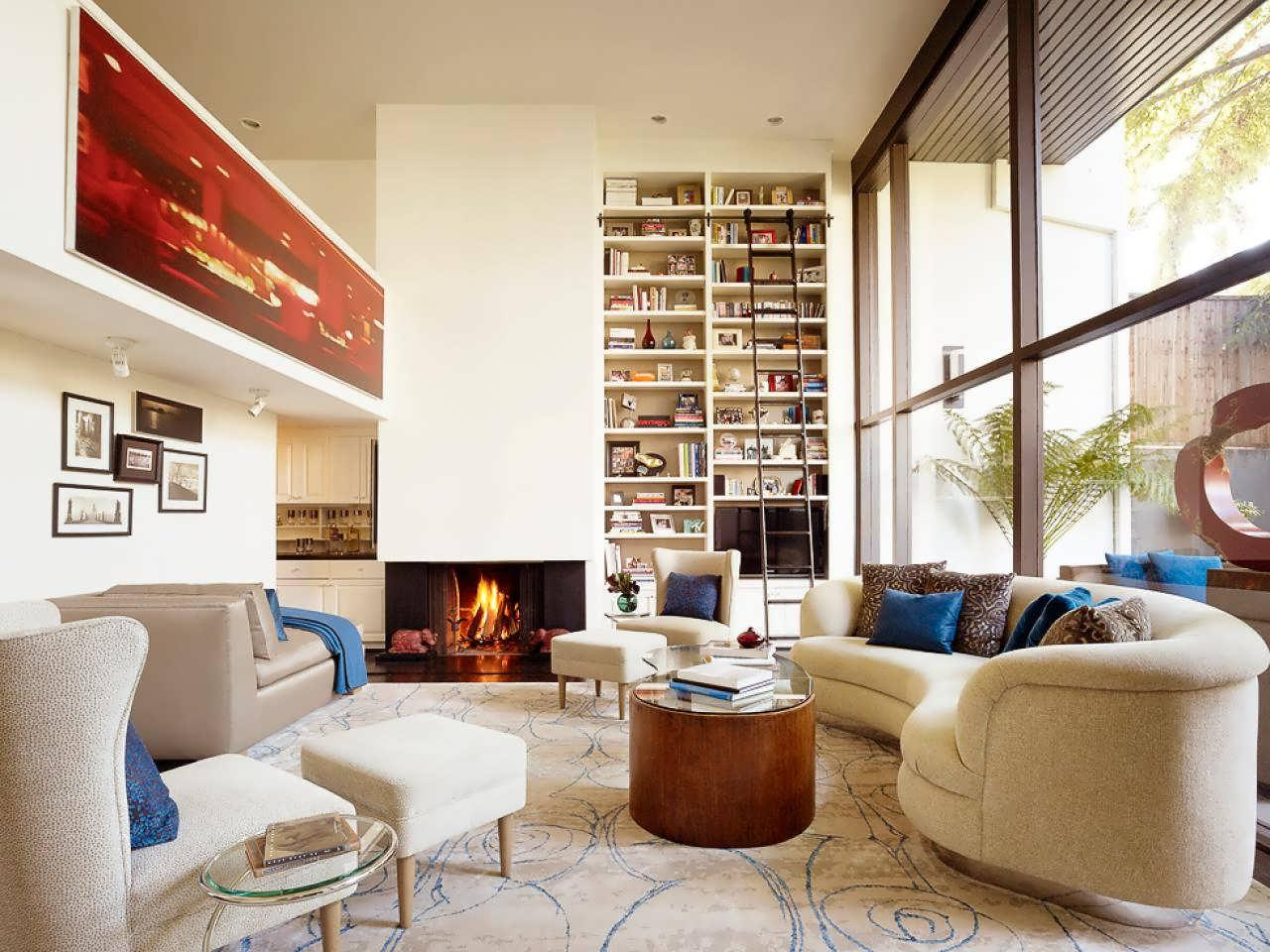 Image of: How To Decorate A Long Living Room With A Fireplace
