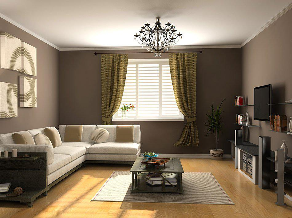 Image of: Interior Design Ideas Living Room Curtains