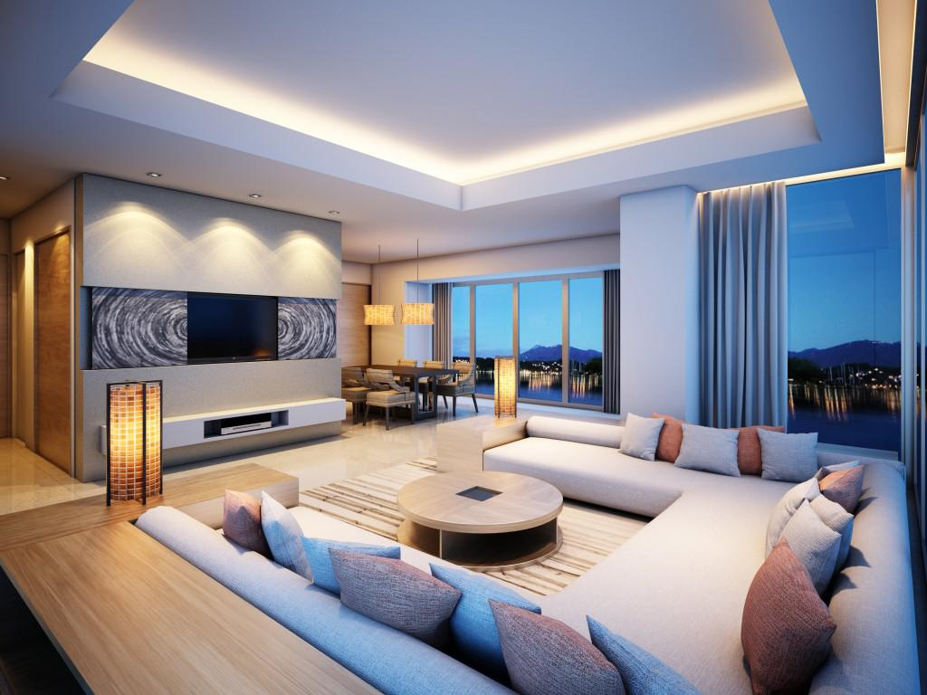 Image of: Interior Lighting For Living Room