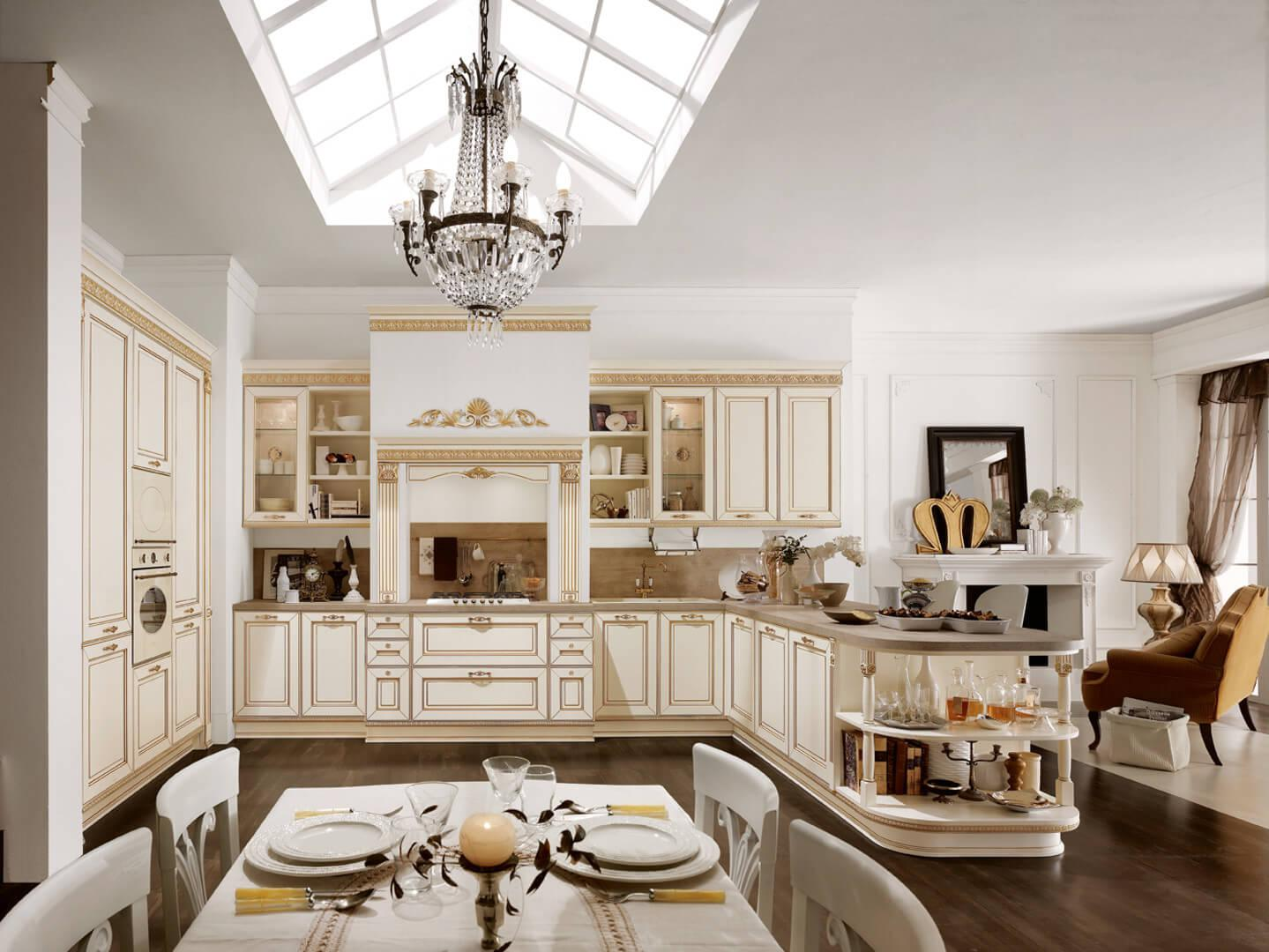 Image of: Interior Of Kitchen Cabinets Italian Style