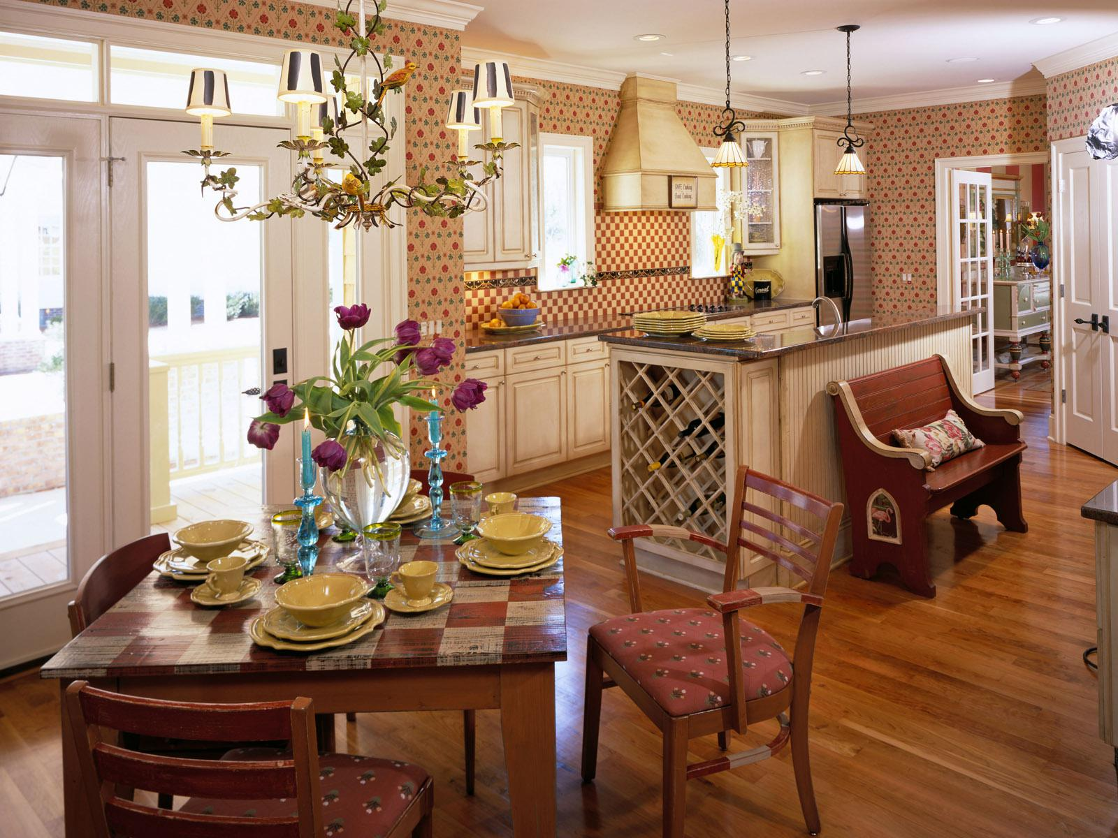 Image of: Kitchen Country home interiors