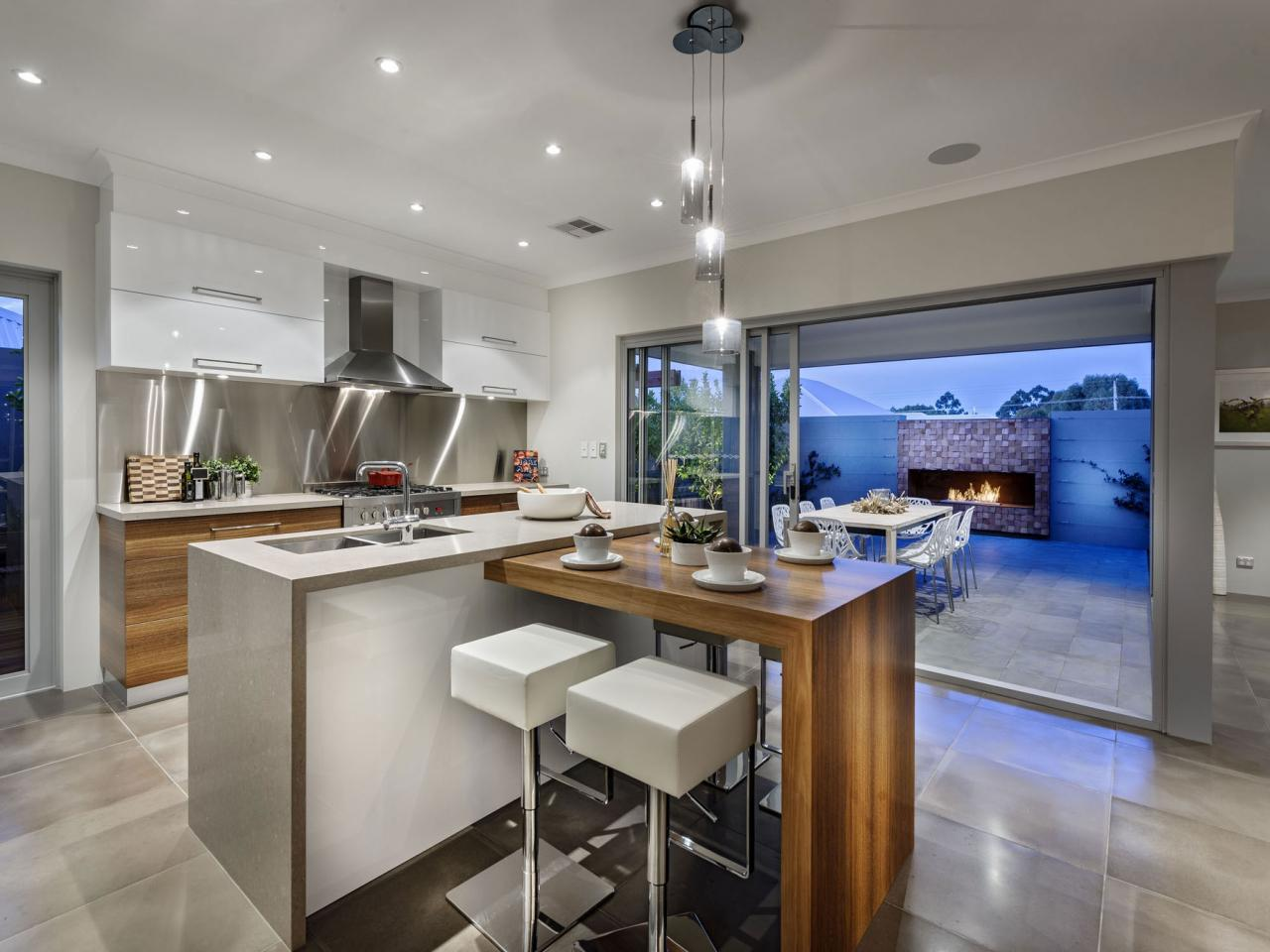 Image of: Kitchen Design With Island And Pantry