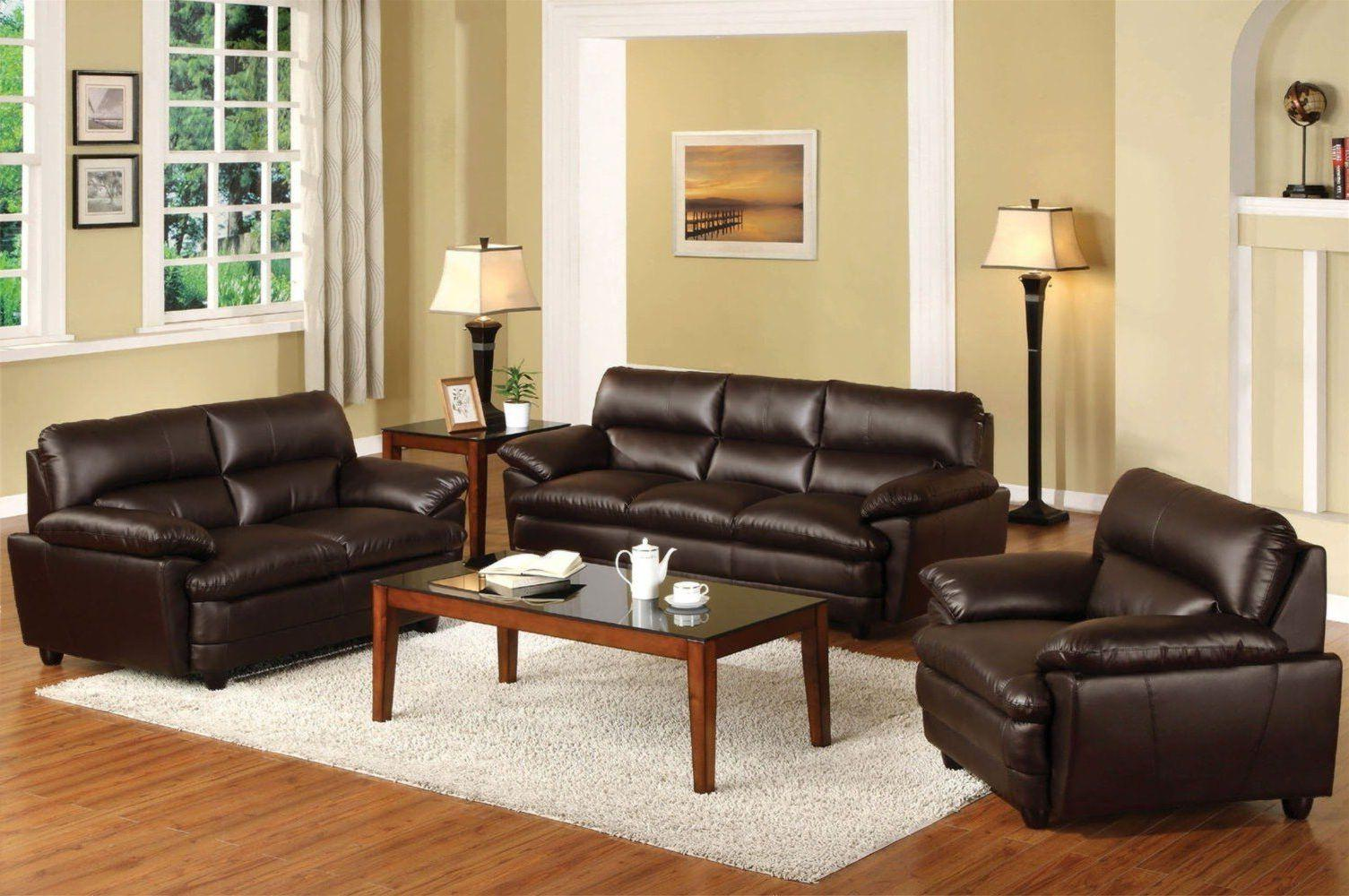 Image of: Light Brown Living Room Set