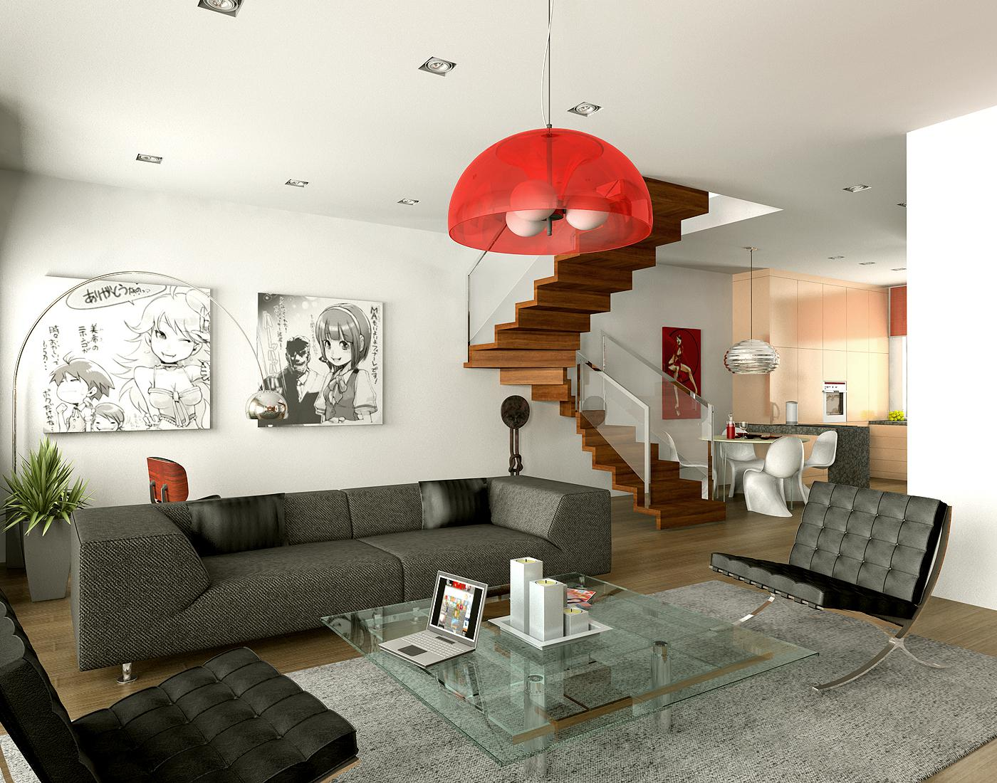 Image of: Living Room Decoration Modern