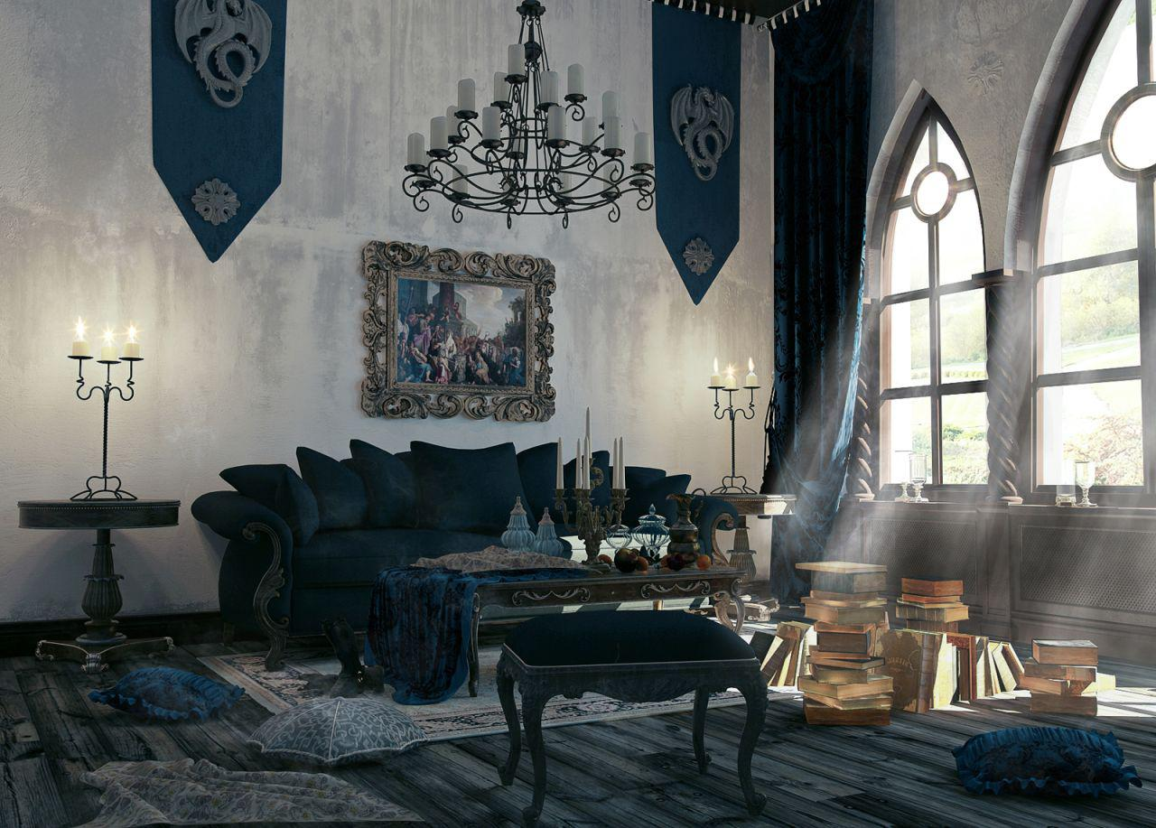 Image of: Living Room Gothic Home Design