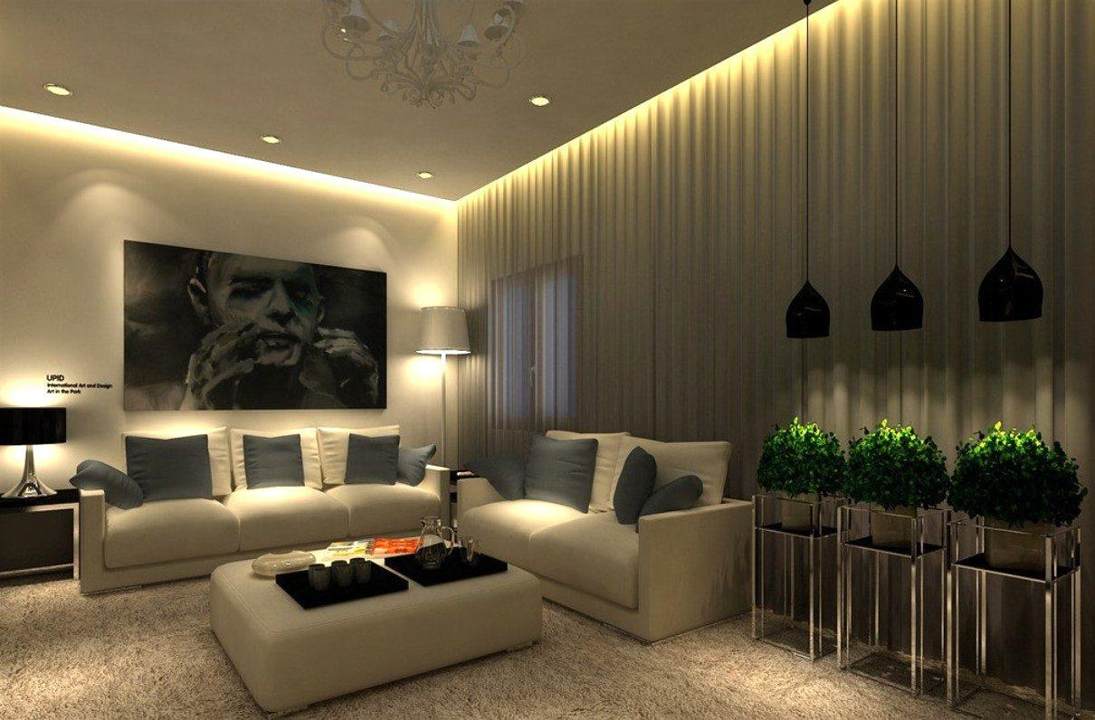 Image of: Living Room Lighting Layout
