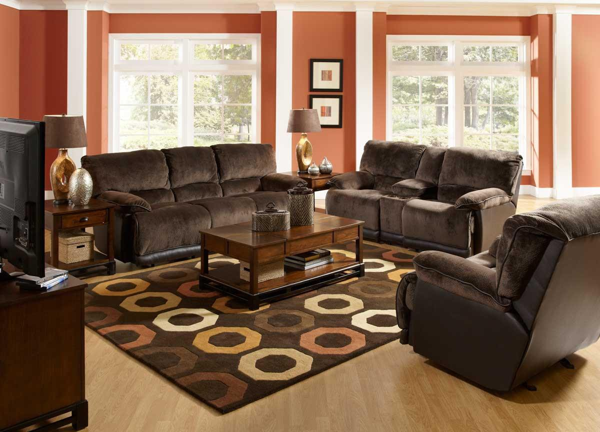 Image of: Living Room Paint Color Ideas With Dark Brown Furniture
