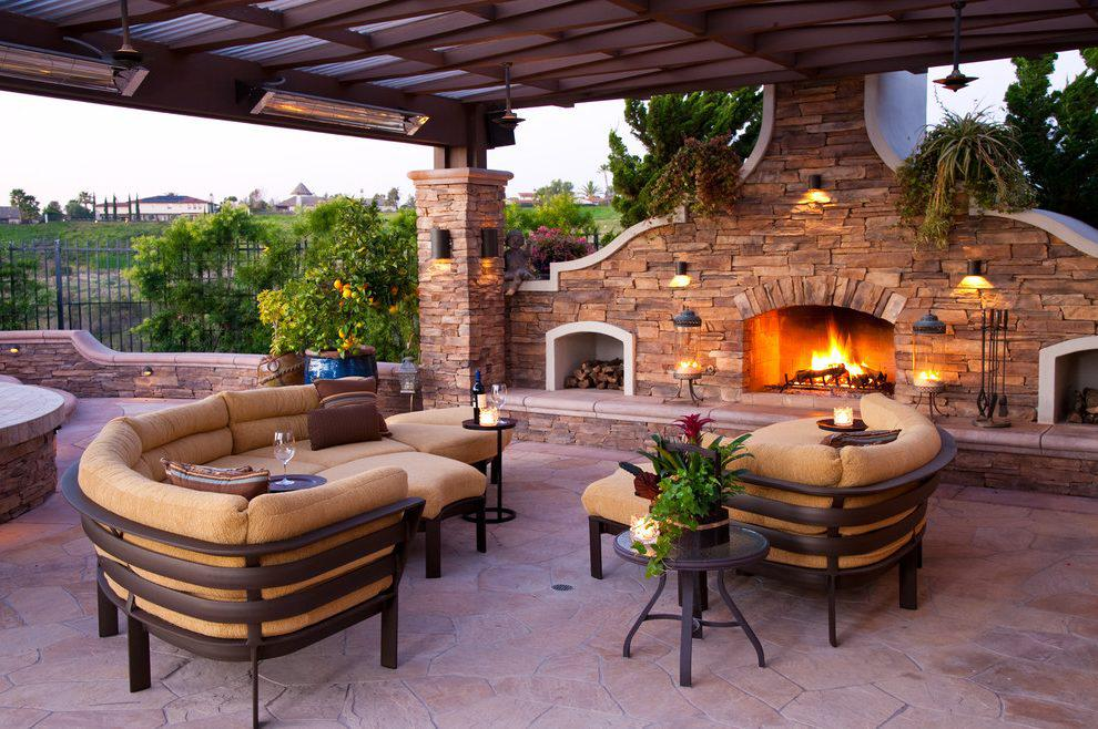 Image of: Mediterranean Patio Garden Ideas