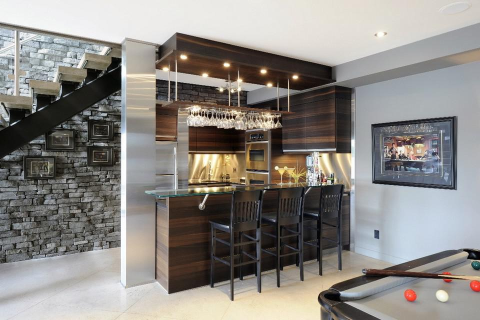 Image of: Mini Bar Counter Designs For Homes