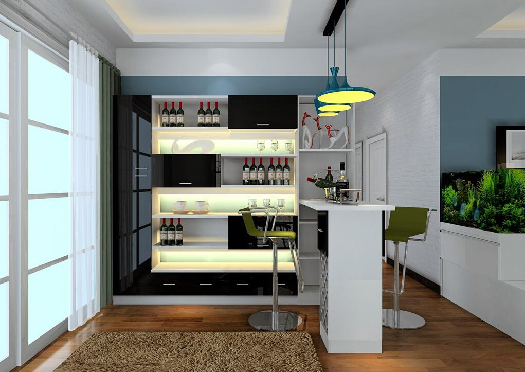 Image of: Modern Bar Counter Design For Home