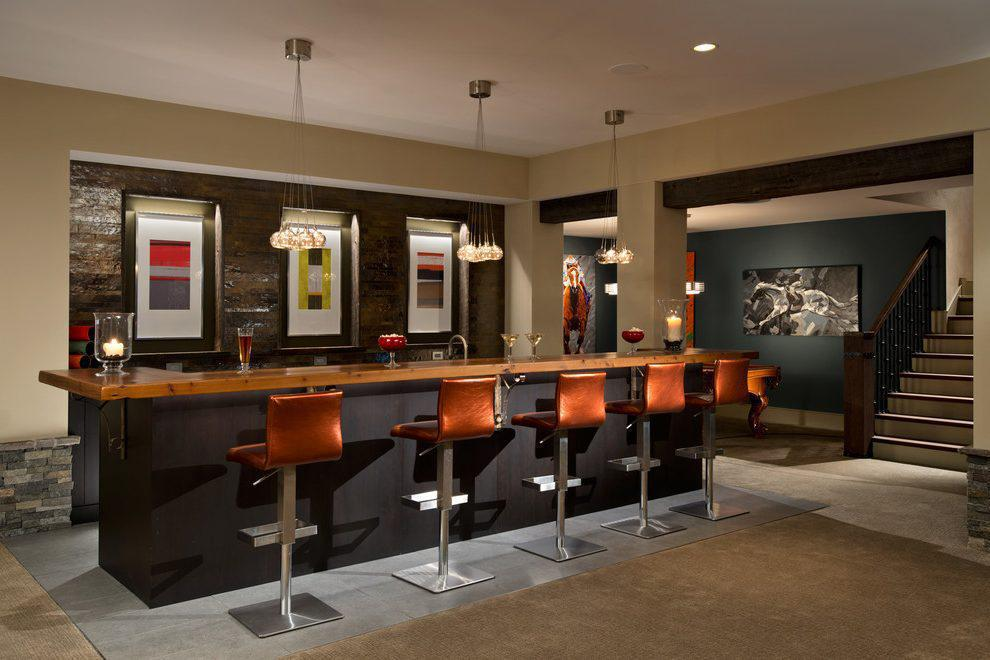 Image of: Modern Home Bars Ideas