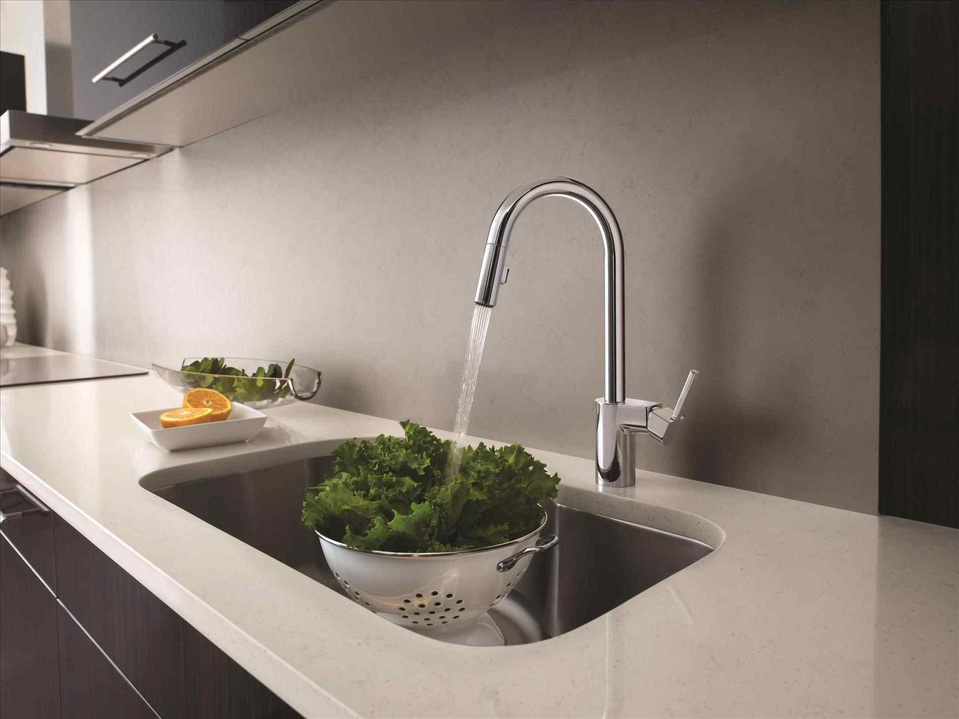 Image of: Modern Kitchen Faucets Lowes