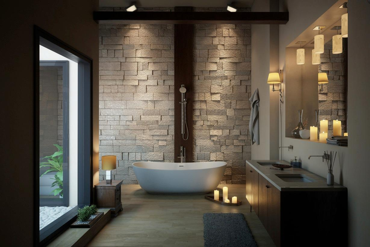 Image of: Modern Master Bathroom Interior Design