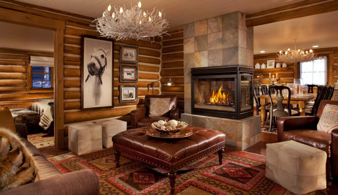 Image of: Modern Rustic Fireplace Design