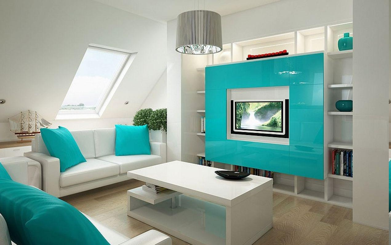 Image of: Modern Turquoise Interior Design Ideas