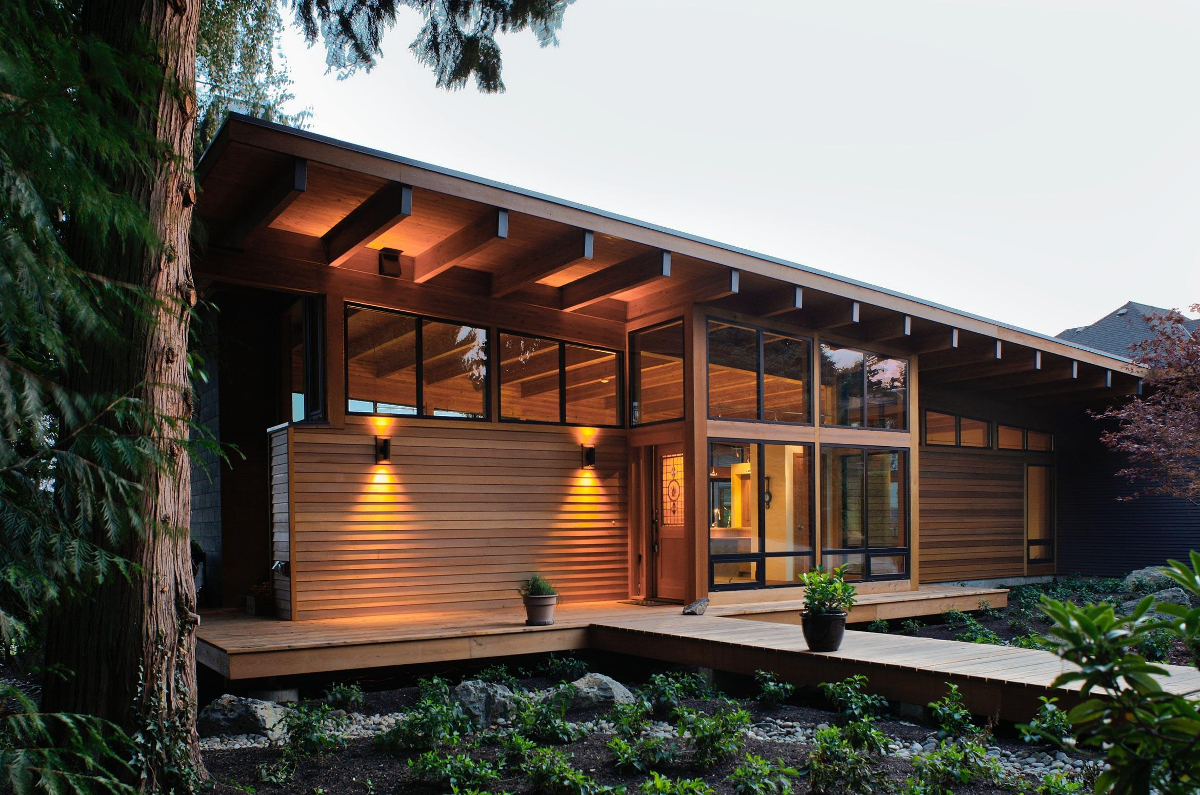 Image of: Modern Wooden House Designs