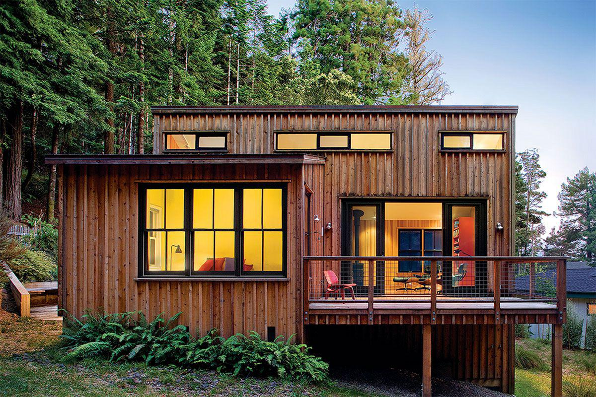 Image of: Modern Wooden House Plans