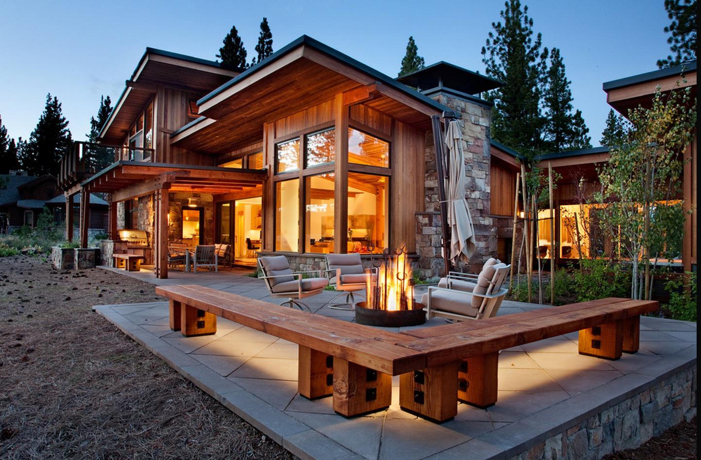 Image of: Modern Wooden House