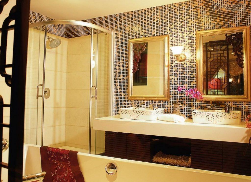 Image of: Mosaic Bathroom Design Tiles