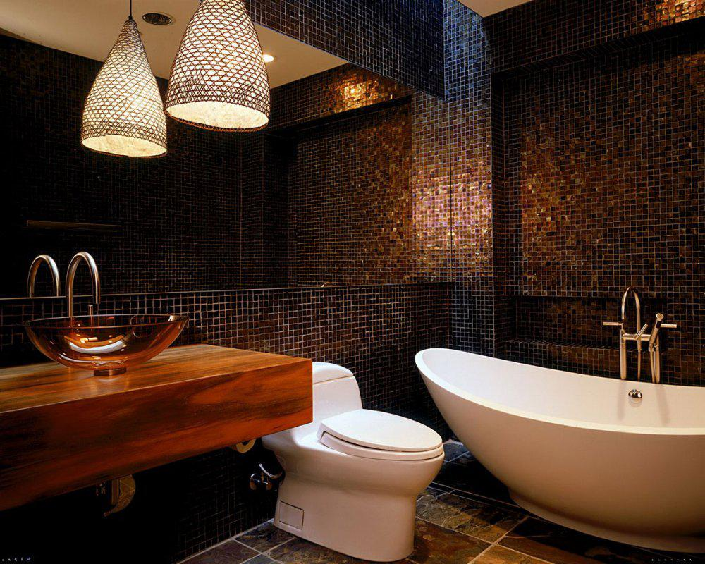 Image of: Awesome Mosaic Bathroom Designs